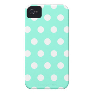 Mint Green Polka Dot iPhone 4 Case