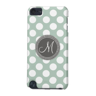 Mint Green Polka Dot Monogram iPod Touch (5th Generation) Case