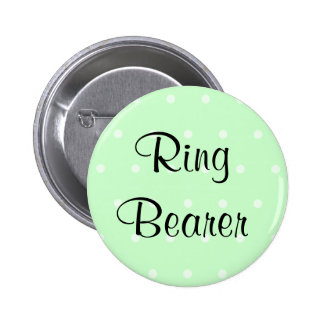 Mint Green Polka Dot Pattern Wedding Pin