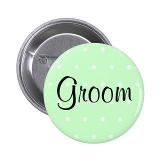 Mint Green Polka Dot Pattern Wedding Pins