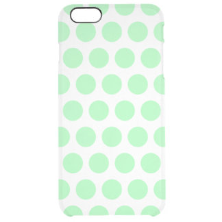 Mint Green Polka Dots Clear iPhone 6 Plus Case
