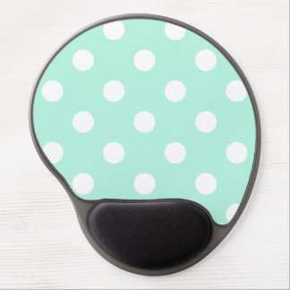 Mint green polka dots gel mousepad gel mouse mat