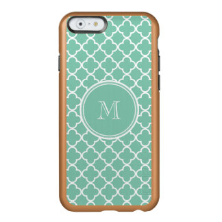 Mint Green Quatrefoil Pattern, Your Monogram Incipio Feather® Shine iPhone 6 Case