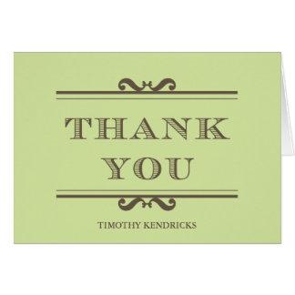 Mint green refine elegance thank you cards