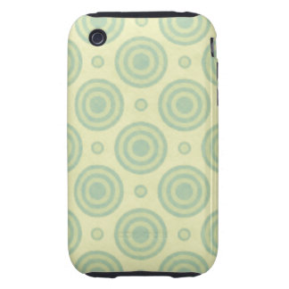 Mint Green Retro Pattern iPhone 3 Tough Case
