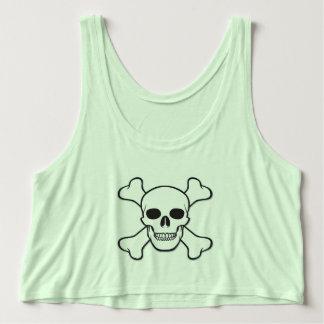 Mint green skull crop top