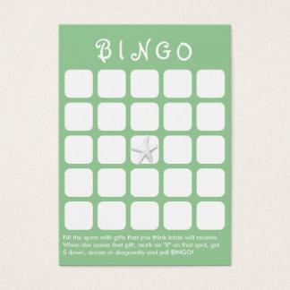 Mint Green Star Fish 5x5 Bridal Shower Bingo Card