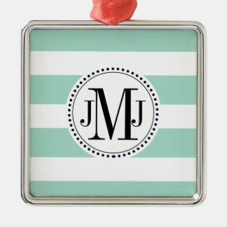 mint green stripe .ai Silver-Colored square decoration