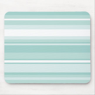 Mint green stripes mouse mat