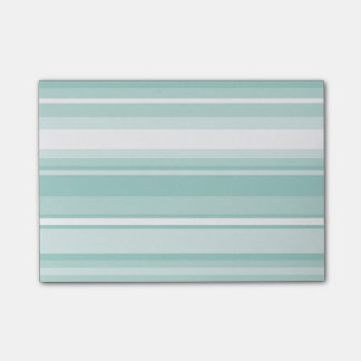 Mint green stripes post-it® notes