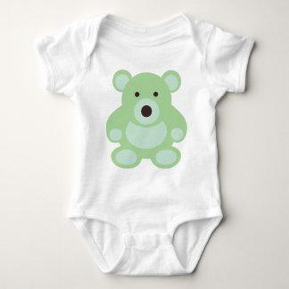 Mint Green Teddy Bear Baby Bodysuit