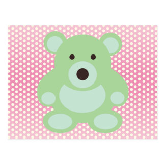 Mint Green Teddy Bear Postcard