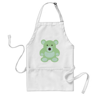 Mint Green Teddy Bear Standard Apron
