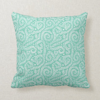 mint green vintage art deco cushion pillow