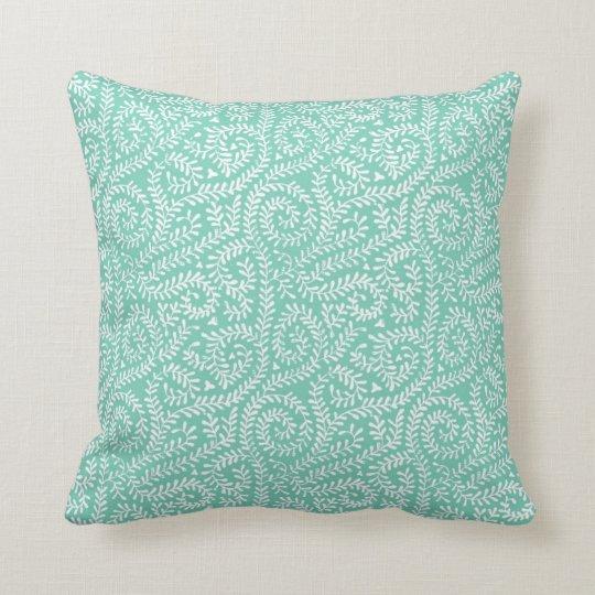 mint green vintage art deco cushion pillow