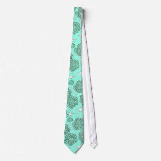 Mint Green Vintage Floral Tie