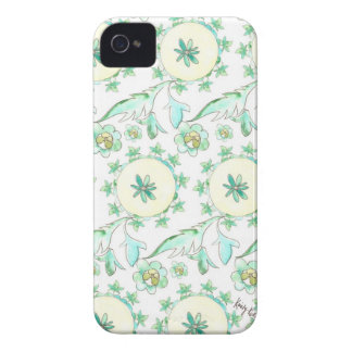 Mint Green Watercolor Pattern iPhone Case