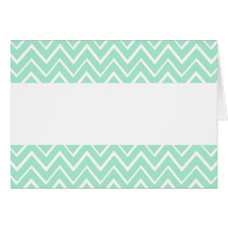 Mint green whimsical zigzag chevron pattern card