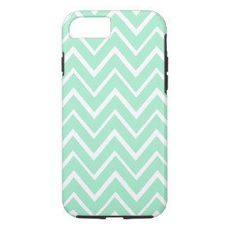 Mint green whimsical zigzag chevron pattern iPhone 7 case