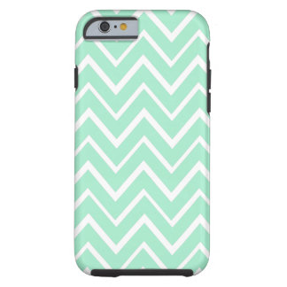 Mint green whimsical zigzag chevron pattern tough iPhone 6 case