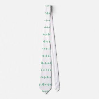 Mint Green White Aztec Arrows Pattern Tie