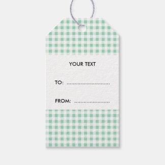 Mint Green White Gingham Pattern