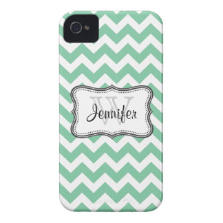 Mint Green & White Trendy chevron iPhone 4/4s Case-Mate iPhone 4 Cases