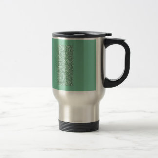 Mint Green with faux glitter Travel Mug