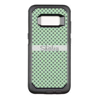 Mint Green with Grey Polka Dots by Shirley Taylor OtterBox Commuter Samsung Galaxy S8 Case
