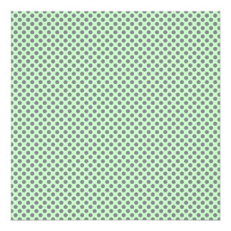 Mint Green With Grey Polka Dots Photographic Print