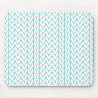 Mint Green Yarn Chevrons Knit Style Mouse Mat