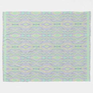 Mint Green Yellow Lavender Pattern Fleece Blanket