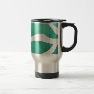 Mint Green Zebra Pattern, Lightning Shape Mug