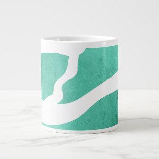 Mint Green Zebra Pattern, Lightning Shape Extra Large Mugs