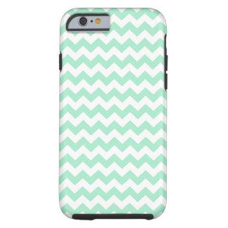 Mint green zig zags zigzag chevron pattern tough iPhone 6 case