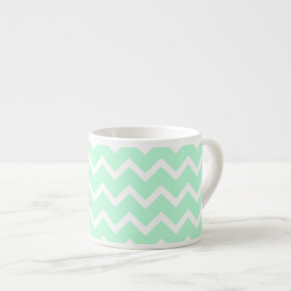 Mint Green Zigzag Chevron Stripes.