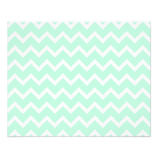 Mint Green Zigzag Chevron Stripes. 11.5 Cm X 14 Cm Flyer