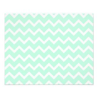 Mint Green Zigzag Chevron Stripes. 11.5 Cm X 14 Cm Flyer