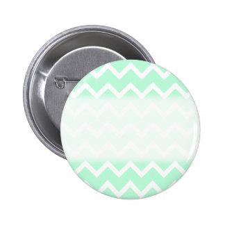 Mint Green Zigzag Chevron Stripes. 6 Cm Round Badge
