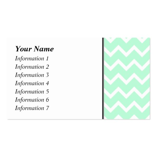 Collections of Chevron Striped Pattern Business Cards