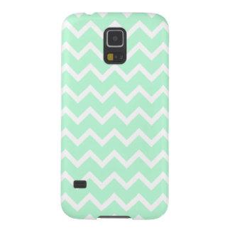 Mint Green Zigzag Chevron Stripes. Galaxy S5 Cases