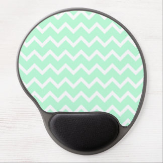 Mint Green Zigzag Chevron Stripes. Gel Mouse Pad