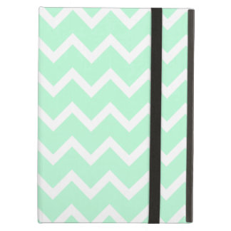 Mint Green Zigzag Chevron Stripes. iPad Air Case