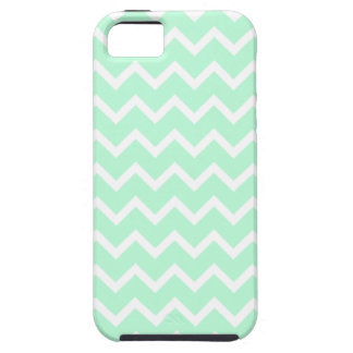 Mint Green Zigzag Chevron Stripes. iPhone 5 Cover