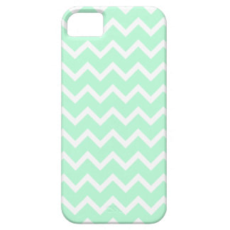 Mint Green Zigzag Chevron Stripes. iPhone 5 Covers