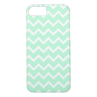 Mint Green Zigzag Chevron Stripes. iPhone 8/7 Case