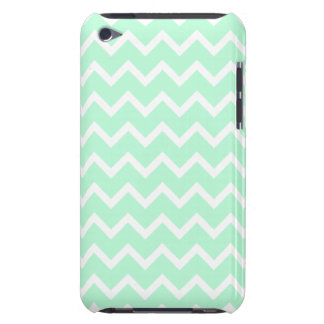 Mint Green Zigzag Chevron Stripes. iPod Touch Case
