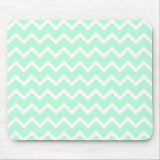 Mint Green Zigzag Chevron Stripes. Mouse Mat
