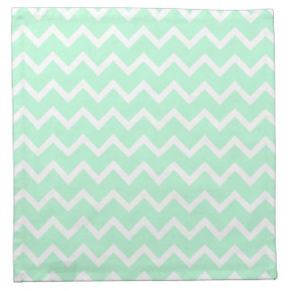 Mint Green Zigzag Chevron Stripes. Napkin