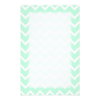 Mint Green Zigzag Chevron Stripes. Stationery